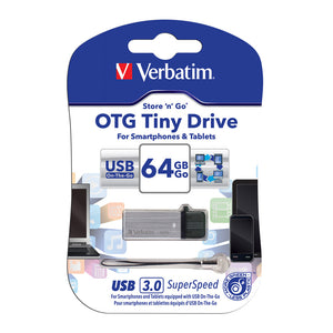 Verbatim Otg  64Gb Usb3.0 Drive Tiny #64494