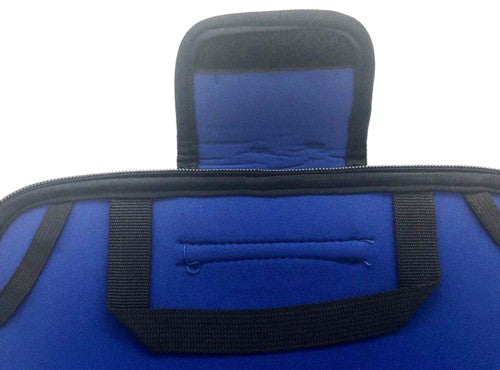 "10"" Notebook / Laptop Bag With Zip And Velcro Blue"
