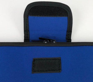 "17"" Notebook / Laptop Bag With Zip And Velcro Blue"