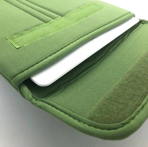 "9.7"" Notebook / Laptop Polyester Bag Green / Velcro"
