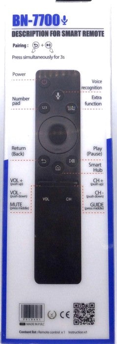 Universal LCD/LED TV Remote Control BN7700 LG Smart with Voice Function