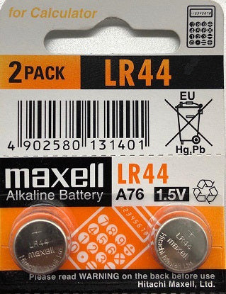 Maxell Alkaline 1.5v Battery LR44 (Caculator)