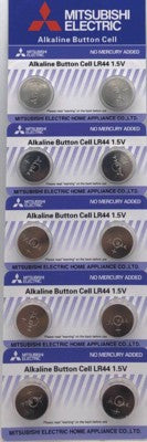 Mitsubishi Alkaline Button Cell Battery LR44 1.5V