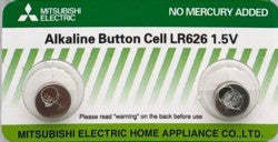 Mitsubishi Alkaline Button Cell Battery LR626 1.5V