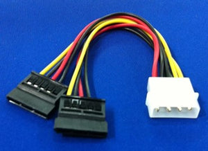 Molex To 2X Sata Power Cable (1 To 2)