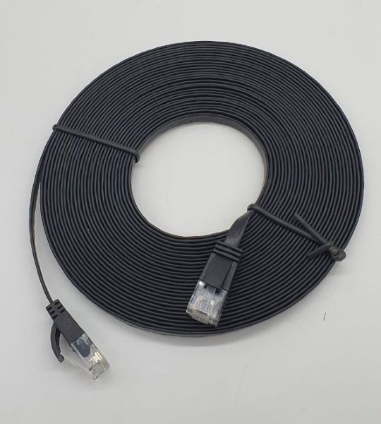 Lan Cable Cat 6 8 Meter Flat (Black)