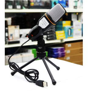 Condenser Microphone SF-666B using USB Plug for PC Desktop Laptop suitable for chatting over QQ,MSN,Skype and Singing