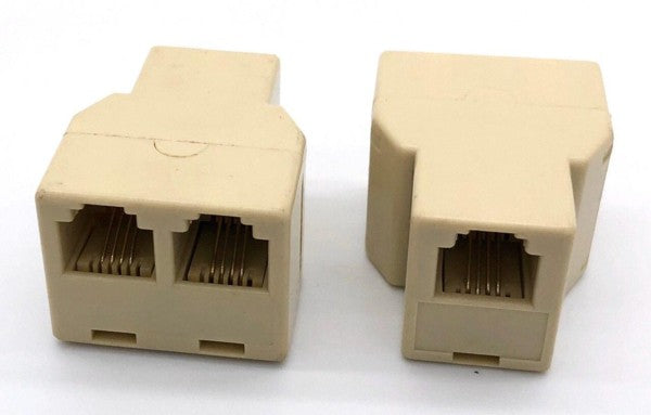 Telephone Connector RJ11 Splitter 1 Female to 2 Female