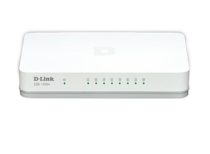 D-link DGS-1008A 8P Gigabit Switch In Plastic Casing