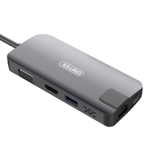 Type C Usb3.1 Multi-Port Hub With Power Delivery (Usb Typea+Type C+Hdmi+Vga+Gigabit ethernet) Unitek DK09016GY