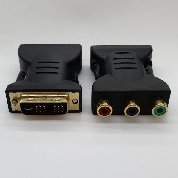DVI 18+5 Male to 3Rca male Adapter