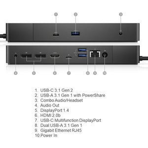 Dell WD19 Docking Station with 180W Adapter (P/N: 210-ARMW)