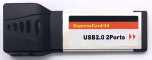 Express Card 34mm to 2Port USB2