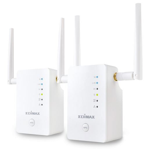Edimax Re11 Ac1200 Smart Dual Band Wi-Fi Extender Detachable Antenna 2 Units With Roaming Function