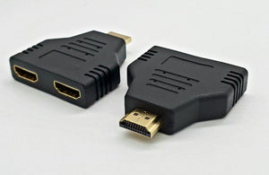 HDMI 1080P Port Male to 2 Female Adapter