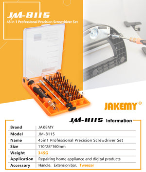 Jakemy Jm8115 Screwdriver 45Pc