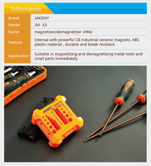 Screw Driver Magnetizer/Demagnetizer Jakemy Jm-X3