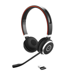 Jabra Evolve 65 UC Stereo Wireless Bluetooth Headset with Link 370 P/N: 6599-829-409