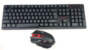2.4G Wireless Combo Keyboard & Mouse HK6500 Black