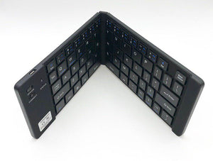 Foldable Bluetooth Keyboard 66 Key  Black