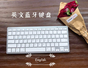 Wireless Bluetooth Keyboard Bk3001 White English
