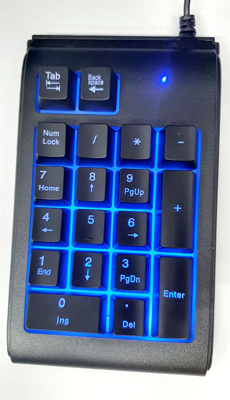 USB Mechanical Numeric Keypad 19 keys Number Pad RGB LED