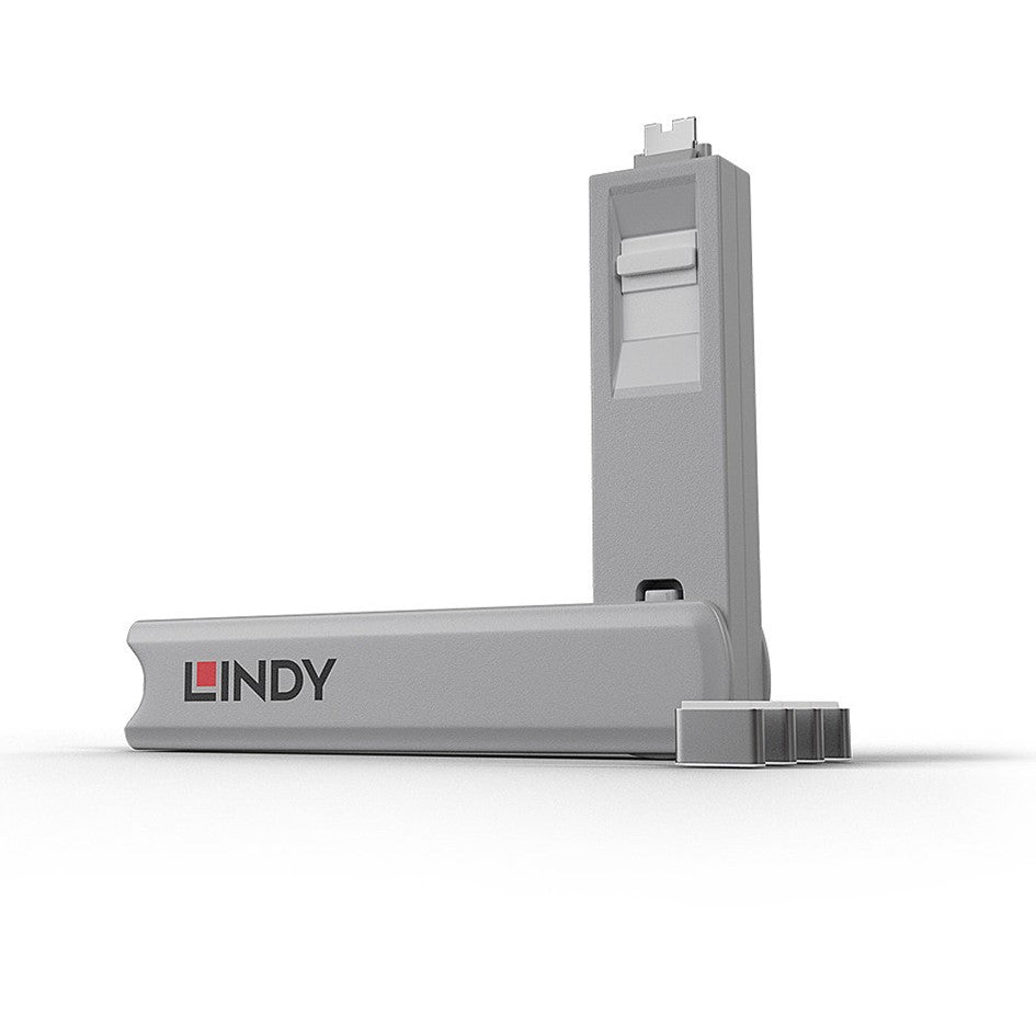 Lindy USB Type C Blocker - Pack of 4 + Key White 40427