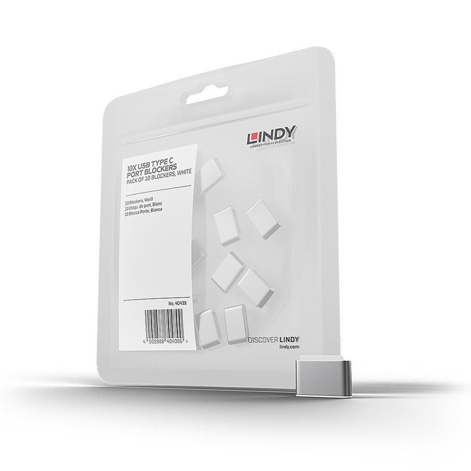Lindy USB Type C Blocker - Pack of 10pcs White 40439