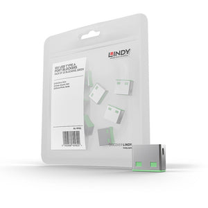 Lindy USB Blocker (without Key ) Pack of 10, code: Green