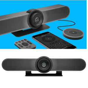 Logitech Meetup 4K Conference Camera (All-in -One ConferenceCam with 120 degree field of view and integrated Audio) Skype for Business certified/Microsoft Cortana® certified/ Cisco Jabber® and WebEx compatible 2Yrs Warranty
