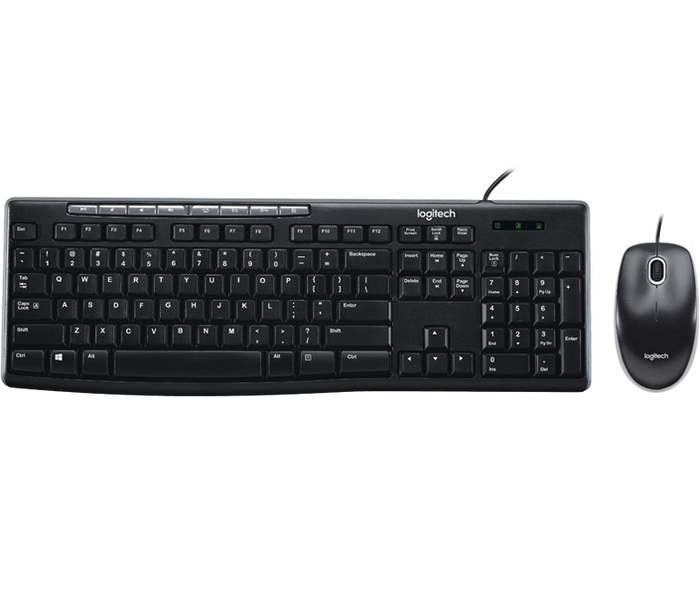 Logitech Media Combo MK200  Wired combo with music controls