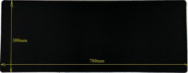 Gaming Anti Slip Mouse Pad 300x780x5mm Black with Black Trim