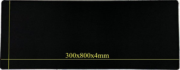 Gaming Anti Slip Mouse Pad 300x800x4mm Black with Black Trim