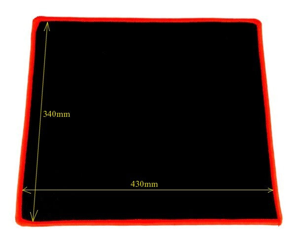 Gaming Mouse Pad 340X430x4mm Black with Red Trim