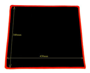 Anti Slip Mouse Pad  340 X 430 x 3mm (Matt Face) Black with Red Trim