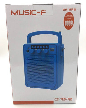 Portable Bluetooth Multimedia Speaker Music-F D009 (Red) With FM radio / USB / Aux in/ Mic In