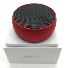 Music-F Simplicity E305 Bluetooth USB/Micro SD Speaker (Red)