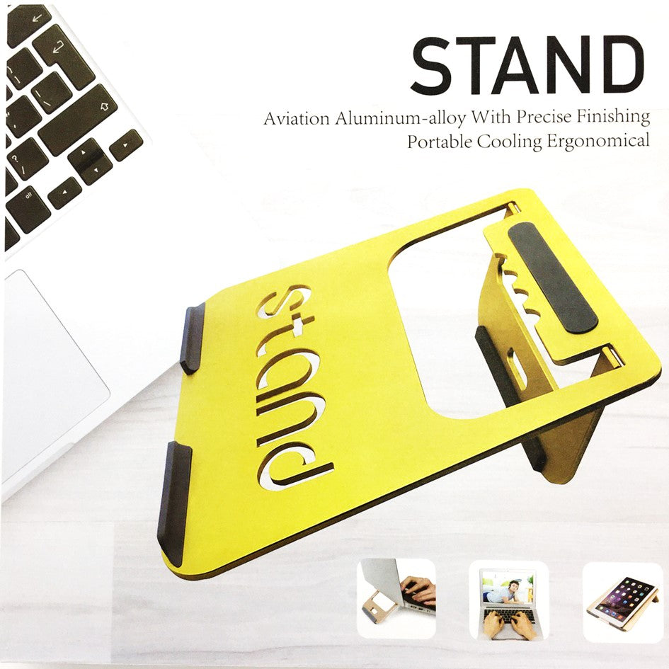 Notebook Universal Stand Aluminum-alloy with Precise Finishing Ergonomical Design