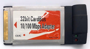 PCMCIA 32Bit Card Bus 10/100MB RJ45 Network LanCard