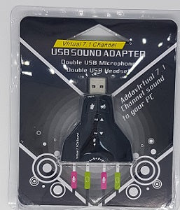 USB /Sound Adapter For 2 Sets Of Microphone And Headset 7.1