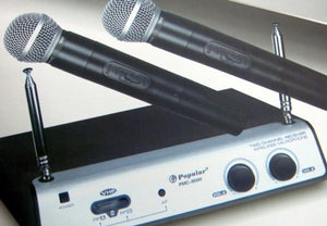 Cordless Microphone With 2 Mics Pmc-950H