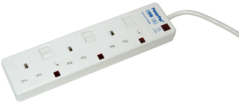 Powerpac 3 Way 3 Meter Power socket extension PP3883N (Safety Approved)