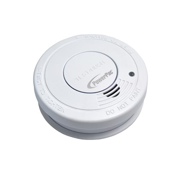 Powerpac Ppsd127 Smoke Detector With Hush Function