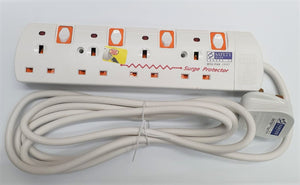 PSE Power Socket 4 Way 3 Meter w Surge Protector 6124-3M Safety Mark