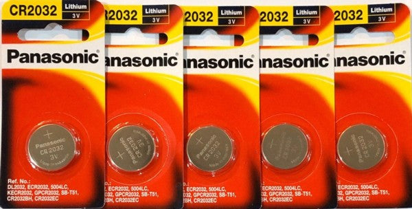 Panasonic Lithium 3V CR2032 Battery 5pc Pak