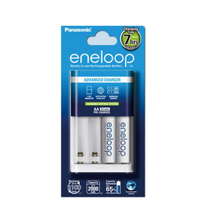 Panasonic K-KJ17MCC20T Eneloop Charger With  2AA Battery 7Hrs