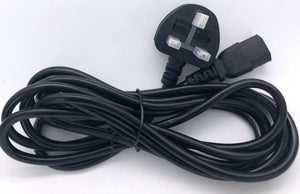 Power Cord 3Pin UK to C13 3Meter with Safety Approved Mark