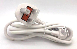 Power Cord 3Pin UK to C5 (Notebook) 1.5Meter (White) with Safety Approved Mark