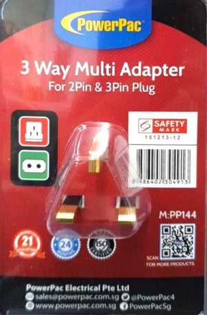 Multiplug 13Amp 3Way 2Pin Direct PP144 Powerpac