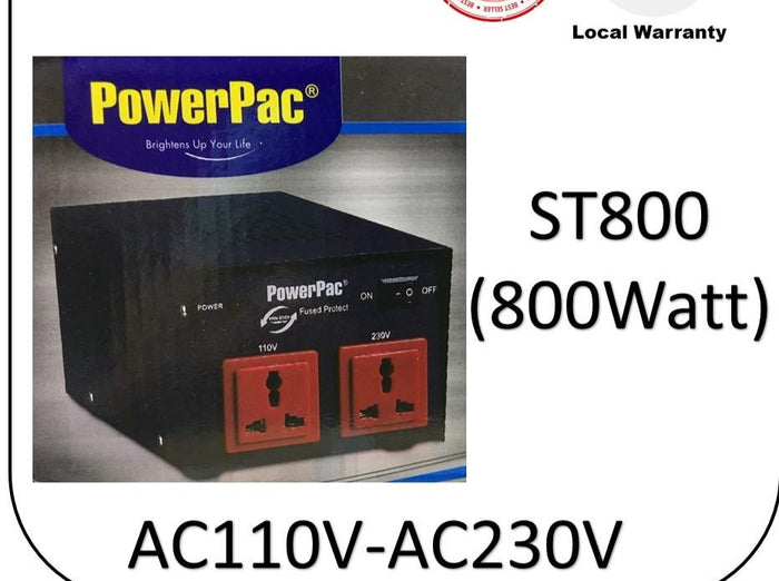 Powerpac AC110V ~230V Transformer ST800 Voltage Transformer